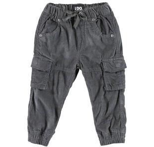 Pantalone cargo in velluto a coste ido GRIGIO-0567