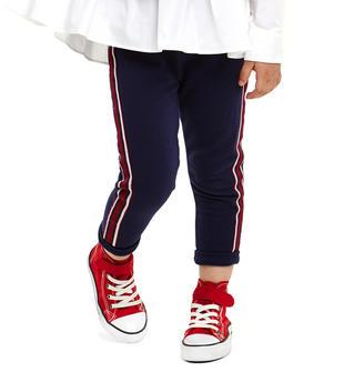 Pantalone bambina in felpa stretch di cotone garzata ido NAVY-3854