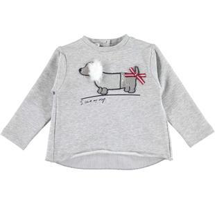 Maglietta con stampa bassotto e retro incrociato ido GRIGIO MELANGE-8992