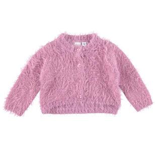 Cardigan corto in speciale tricot effetto pelliccia ido ORCHIDEA-2746