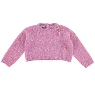 Maglia corta effetto pelliccia in tricot lurex ido ORCHIDEA-2746