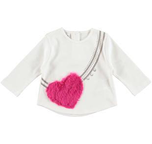 Deliziosa maglietta in interlock 100% cotone ido PANNA-0112