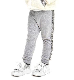 Pantalone per bambina in ciniglia con bande laterale ido GRIGIO MELANGE-8992