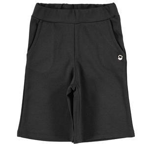 Pantalone bambina modello cropped in punto milano stretch ido NERO-0658