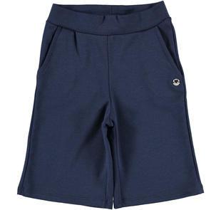 Pantalone bambina modello cropped in punto milano stretch ido NAVY-3854
