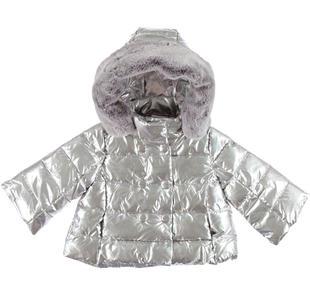Piumino invernale imbottito in ovatta con cappuccio removibile ido SILVER-1157