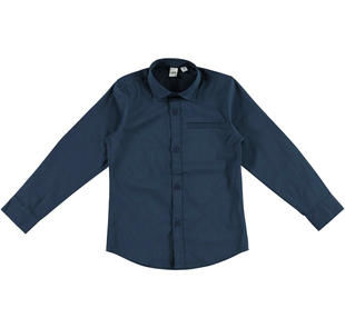 Camicia avvitata con taschino ido NAVY-3856