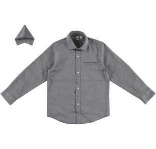Camicia classica per bambino con pochette per la giacca ido