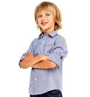 Camicia classica per bambino con pochette per la giacca ido ROYAL-3757