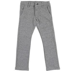 Pantalone per bambino in speciale felpa screziata ido GRIGIO-0567