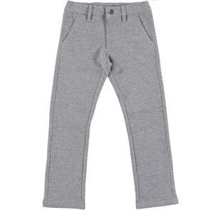 Pantalone per bambino in speciale felpa screziata ido NAVY-3856