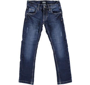 Jeans slim fit con moderne scalfitture ido BLU-7750