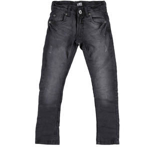 Jeans slim fit con moderne scalfitture ido NERO-7990