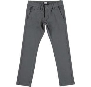 Pantalone modello chinos in twill stretch di cotone ido GRIGIO-0567