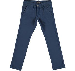Pantalone modello chinos in twill stretch di cotone ido NAVY-3856