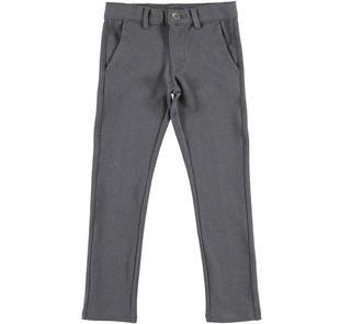 Pantalone slim fit in morbido twill mano calda ido GRIGIO-0567