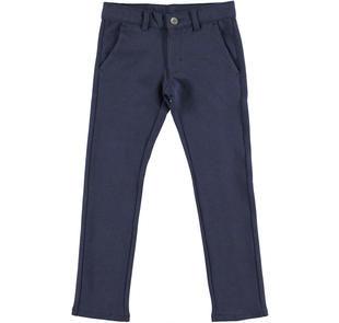 Pantalone slim fit in morbido twill mano calda ido NAVY-3856