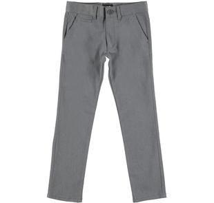 Elegante pantalone con tasche all'americana ido GRIGIO MELANGE-8993