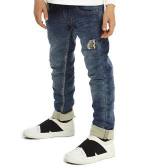 Jeans slim fit effetto delavato ido SOVRATINTO BEIGE-7180