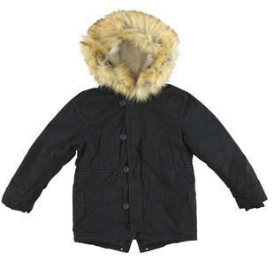 Parka invernale per bambino in twill di cotone idropellente ido NERO-0658
