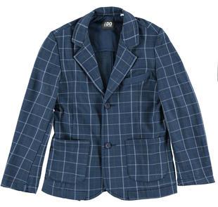 Raffinata giacca per bambino con elegante fantasia a quadri ido BLU-GRIGIO-6ES2