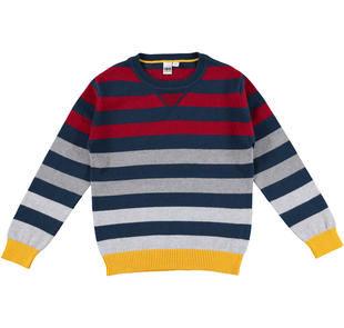 Vivace maglia rigata multicolore per bambino ido NAVY-3856