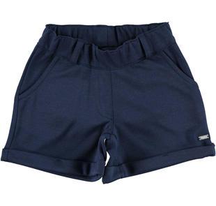 Shorts in tinta unita punto milano ido NAVY-3854
