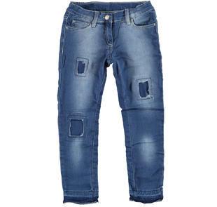 Jeans super slim delavato, strappato e rattoppato ido STONE WASHED-7450