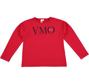 Romantica maglietta con scritta amore ido ROSSO-2253