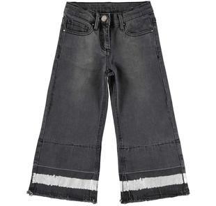 Super fashion cropped jeans ragazza con zampa di elefante ido GRIGIO SCURO-7993