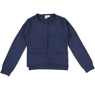 Cardigan svasato in morbido tricot misto viscosa ido NAVY-3854
