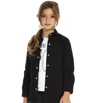 Maxi camicia arricchita con moderne rotture ido NERO-0658
