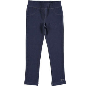 Jeggings in jersey stretch effetto denim ido NAVY-3854