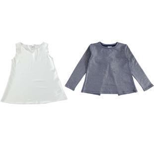 Completo maglietta a manica lunga e canotta ido BLU-ARGENTO-6X36