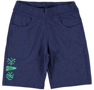Pantalone corto tema sportivo ido NAVY-3854
