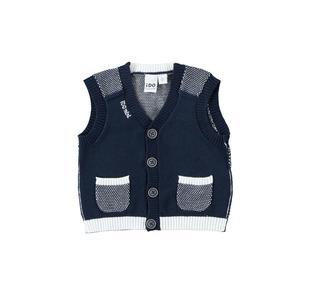 Grazioso gilet in tricot 100% cotone ido NAVY-3885