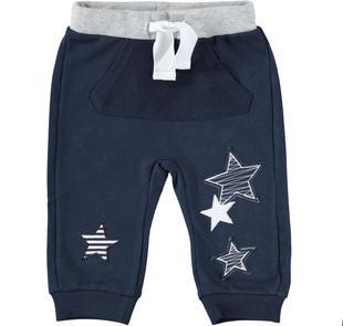 Pantalone primaverile in felpa 100% cotone con stelle ido NAVY-3885