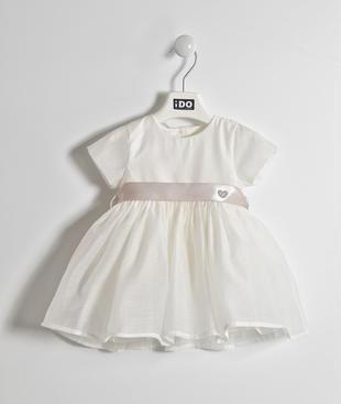 Elegante abito in chiffon con fusciacca ido PANNA-0112