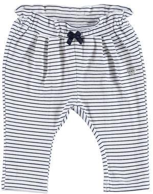 Pantalone fantasia rigata 100% cotone ido BIANCO-BLU-6FU9