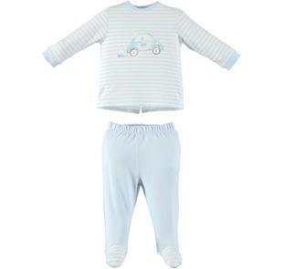 Tutina spezzata con macchinina per neonato ido SKY-5818