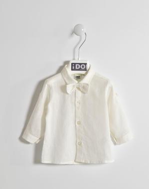 Elegante e fresca camicia misto lino ido PANNA-0112