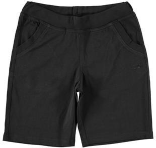 Pratico pantalone corto al ginocchio ido NERO-0658