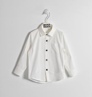 Camicia in misto cotone stretch ido BIANCO-0113