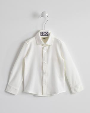 Camicia con pochette in piquet di cotone ido BIANCO-0113