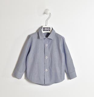 Camicia 100% cotone gessato ido NAVY-3657