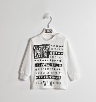 Girocollo stampa New York ido BIANCO-0113