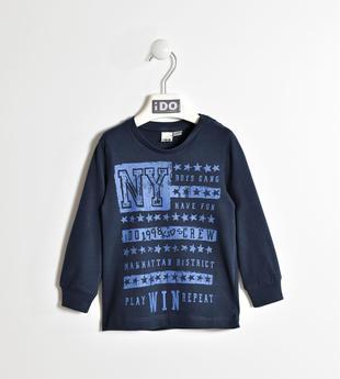 Girocollo stampa New York ido NAVY-3885