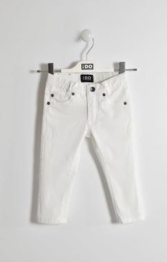 Pantalone slim fit in cotone ido BIANCO-0113