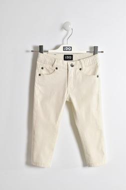 Pantalone slim fit in cotone ido ECRU'-0441