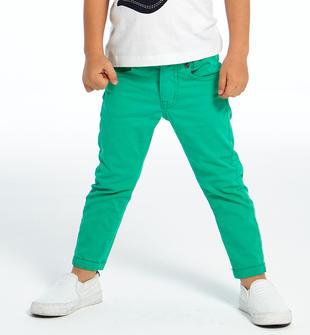 Pantalone slim fit in cotone ido VERDE-5052